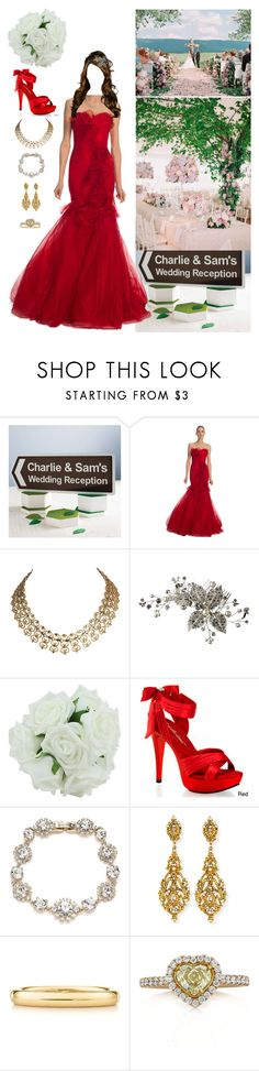 """Being a bridesmaid at the wedding of her cousin Samantha"" by duchessofoxfordshire ❤ liked on Polyvore featuring Marchesa, Pleaser, Jose & Maria Barrera, Elsa Peretti and Mark Broumand"