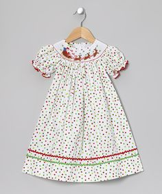 Take a look at this Red & Green Santa Bishop Dress - Infant, Toddler & Girls on zulily today!