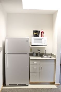 LLC Standard Suite Kitchenette: Includes full sized refrigerator, microwave, sink and storage space