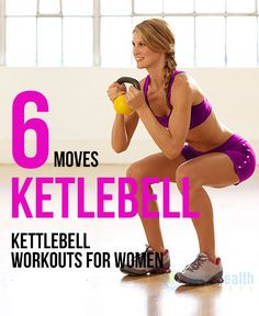 6 Moves to Kettlebell #Workouts for Women.