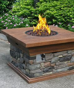 This Yosemite Propane Fire Pit is perfect! #zulilyfinds
