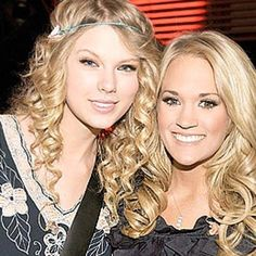 Taylor Swift and Carrie Underwood Taylor Songs, Taylor Swift Music, Taylor Alison Swift, Photos Of Taylor Swift, Best Country Music, Amanda Seyfried, Carrie Underwood, Famous Faces, Fascinator