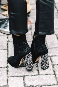 The Coolest Embellished Heel Boots