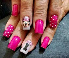 Fotos de unhas decoradas da Minnie (nail art) - Ana Paula Villar Nail Tech, Nail Nail, Disney Nails, Nail Art Designs, Beauty, Amanda, Cartoons, Album, Green Toe Nails