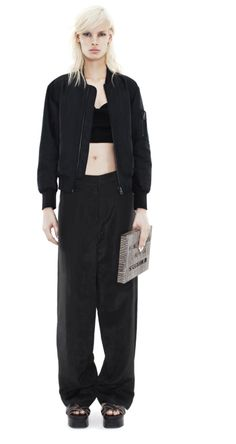 Acne Studios Kat light linen black - Trouser