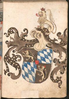 Wernigeroder (Schaffhausensches) Wappenbuch Süddeutschland, 4. Viertel 15. Jh. Cod.icon. 308 n  Folio 12r