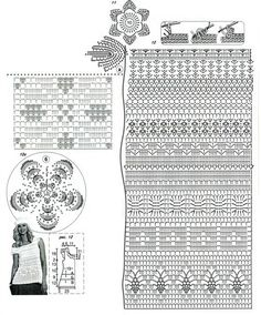 Kraina wzorów szydełkowych...Land crochet patterns..: biała bluzeczka