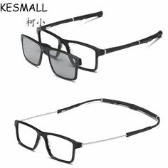 59c55f309c5 KESMALL Magnetic Sunglasses Clip on Sunglass Women Men Night Vision Lens  Clips Myopia Glasses Frame With
