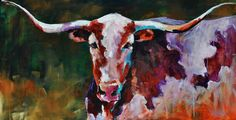 Andrée Hudson....good ol' longhorn and I really love the vibrant colors!