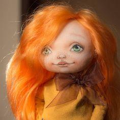 Tanya-K  #doll #doll_in_home #homedecor #handmade #handmadedoll #textiledoll #fabricdoll #interiordoll #кукла #кукларучнойработы #текстильнаякукла #куклаизткани #ручнаяработа #интерьернаякукла #red #рыжая #весна