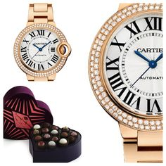An aphrodisiac for your wrist and tastebuds! Crush Truffle Collection & Cartier Ballon Bleu de Cartier, Automatic Pink Gold with Diamonds
