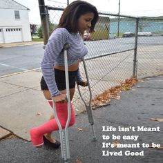 And The most beautiful people we have known are those who have known defeat, known suffering, known struggle, known loss, and have found their way out of those depths. Long Leg Cast, Crutches, Most Beautiful People, It's Meant To Be, It Cast, Sporty, Medical, Outdoors, Motivation
