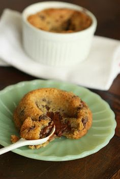 Molten Deep-Dish Chocolate Chip Cookies from HalfBaked
