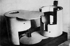 Model of the Melnikov house in Moscow