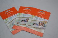 Gift Card Shutterfly great for Baby Shower $60
