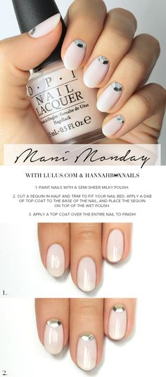 Mani Monday: Nude Sequin Nail Tutorial at LuLus.com!