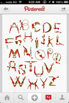 The #circus alphabet. #hoop #acro #balance