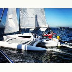"""Meet the NEW Corsair Cruze 970 and the Finish Line OTC, Inc! The new Corsair Trimaran 970 was a """"Big Hit"""" and the talk of the show and was nominated for """"Boat of the Year"""" by both Sailing World and Cruising World Magazines! Read more at: http://sail.corsairmarine.com/meet-the-new-corsair-cruze-970-and-the-finish-line-otc-inc sail.corsairmarine.com #corsair #corsairmarine #sail #sailing #catamarans #cats #trimarans #tris #ocean #nautical"""