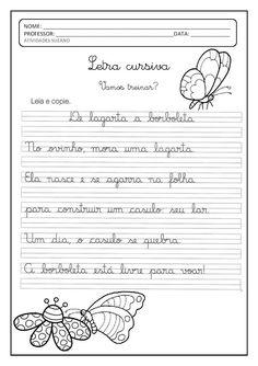 Trabalho com Letra Cursiva   Atividades Pedagogica Suzano