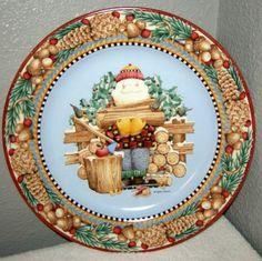 Debbie Mumm's Santa Platter - perfect for the holidays!