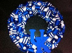 Homemade University Of Kentucky Ribbon Wreath by DixieBellesCrafts