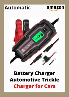 SUHU Car Battery Charger, 6V/12V 4 Amp Battery Charger Automotive Trickle Charger for Cars, Trucks Motorcycle Lawn Mower Boat Marine RV SUV ATV SLA Wet AGM Gel Cell Lead Acid Lithium Battery #easy to use #works great #charger works #battery charger #charging #batteries #bike #display #starts 📌 Please Re-Pin for later ⚡✊, #ad, focus paralane2 e bike gravel, best buy e bike, e bike ride, 12v 45ah e bike battery, electric bicycle usa