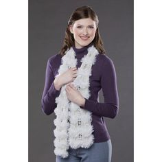 Knitting Patterns Galore - Snow Bunny Scarf