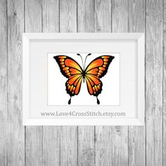 Orange Butterfly Cross Stitch Pattern Modern, Large Yellow Butterfly Cross Stitch, Ombre Butterfly Orange Cross Stitch, Wings Cross Stitch  This PDF counted cross stitch pattern available for instant download. Floss: DMC Fabric: AIDA 14-count ( other AIDA Fabric Counts may be used, the finished pattern will be different in size) Number of Colors: 8 Full Cross stitches only Size: 350x 292 stitches ( 25.00 x 20.79 on 14 ct Aida)   There is no background around the butterfly to be stitched. You…