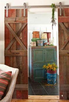 Ojai Cottage   Barn Doors   The Polished Pebble