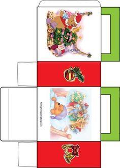 de jolis sacs cadeau avec les personnages de Winnie l'Ourson...