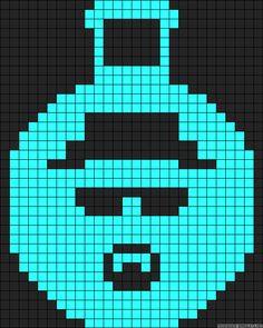 Breaking Bad Heisenberg perler bead pattern