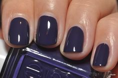 "Essie's ""No More Film""- a deep, dark, Purple creme nail color that is the perfect jewel tone for the cooler months and holiday season!"