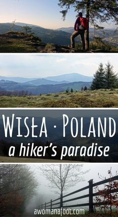 Beautiful mountains, great web of trails, budget housing, and breath-taking views - go hiking near Wisła, Poland! awomanafoot.com | #hiking | #Poland | #trail | #destination | #budgetTravel | #hike | #mountains