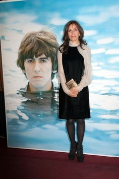"Olivia Harrison, widow of George Harrison, attends the premiere of Martin Scorsese's new documentary ""George Harrison: Living in the Material World"". Olivia Harrison, Linda Eastman, Beatles Love, The Fab Four, The Eighth Day, Martin Scorsese, Wife And Girlfriend, Ringo Starr, Dark Horse"