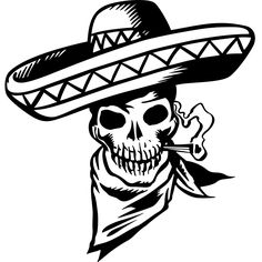 Cartoon Mexican Skull Wall Sticker - World of Wall Stickers