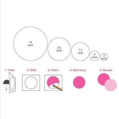 Polka Dot Wall Mural Stencil Kit for Girls or Baby Room image 1 Polka Dot Walls, Polka Dots, Hobby Lobby, Home Depot, Stencils For Kids, Happy Paintings, Love Wall, Wall Patterns, Kit