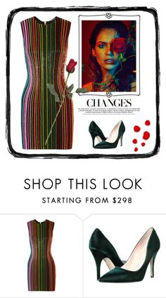"""""""A red red rose"""" by outfitsloveyou ❤ liked on Polyvore featuring Balmain and Kate Spade"""