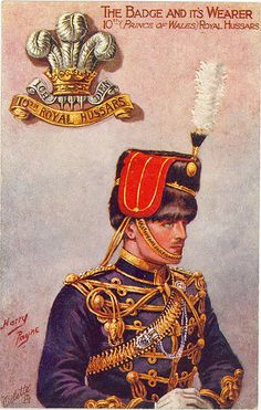 10th (Prince of Wales') Royal Hussars Postcard (Pre WWI)