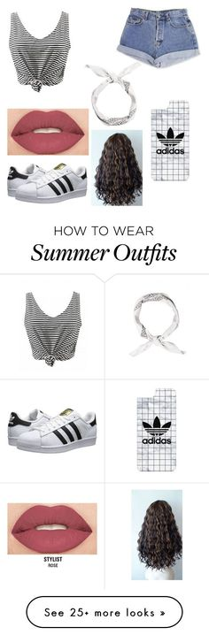 Summer outfit by morenovictoria209 on Polyvore featuring Calvin Klein, adidas Originals, Casetify and Smashbox