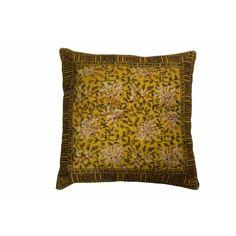 Dutchbone Indian Block Kussen 50 x 50 cm - Yellow - afbeelding 1