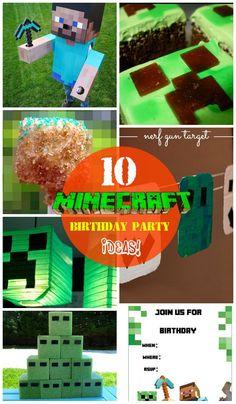 10 DIY Minecraft Birthday Party Ideas