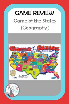 Geography Games For Kids, Geography Lesson Plans, Us Geography, Educational Games For Kids, Fun Games For Kids, Homeschool Curriculum Reviews, Homeschooling, Science Games, Review Games