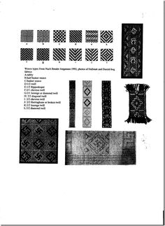 Weaving types from Iron Age (Jorgensen 12)