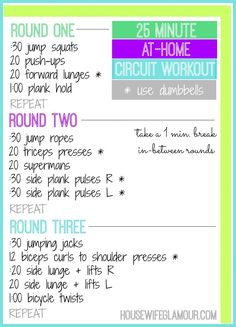25 Min. At-Home Circuit Workout - Housewife Glamour #FitFluential