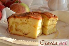 biszkopt z jabłkami... 6 jajek 1 i 1/3 szklanki cukru 2 szklanki mąki pszennej 2 płaskie łyżeczki proszku do pieczenia-z w/wym skł.upiec biszkopt 2/3 ciasta- do prodiża, na to 5 - 6 kwaśnych jabłek pokr.plastry i reszta ciasta- piecz ok 45 min. Po upieczeniu od razu wyjmujemy z prodiża. Jeśli biszkopt pieczesz w piekarniku to ustaw temperaturę na 175 stopni C bez termoobiegu i piecz około 45 - 50 minut. Porcja na tortownicę o średnicy 24 cm.