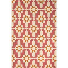 Jaipur Rugs IndoorOutdoor Moroccan Pattern Pink/Ivory Polypropylene Area Rug BA35 (Rectangle)