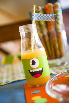 Drinks at a Friendly Monster Party #drinks #monsterparty