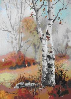 Lecture d'un message – mail Orange - Malerei Watercolor Water, Watercolor Trees, Watercolor Landscape, Landscape Art, Landscape Paintings, Watercolor Paintings, Landscapes, Bird Paintings, Indian Paintings