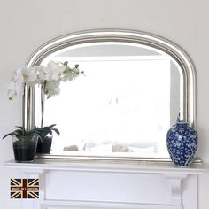 beaded overmantle mirror in many colours by decorative mirrors online | notonthehighstreet.com