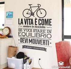 Adesivi Murali La vita è come andare in bicicleta